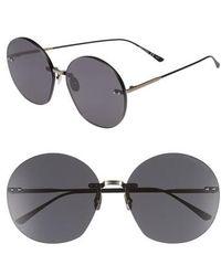 Bottega Veneta - 63mm Round Sunglasses - Lyst