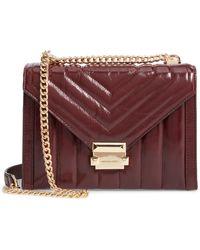 MICHAEL Michael Kors - Large Quilted Leather Shoulder Bag - Burgundy - Lyst
