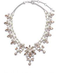 Givenchy - Drama Crystal & Imitation Pearl Necklace - Lyst
