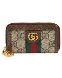 Gucci - Ophidia Gg Supreme Zip-around Key Case - Lyst