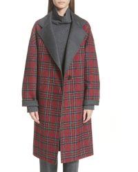 Lafayette 148 New York - Braylie Flannel Collar Plaid Coat - Lyst