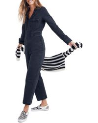 Madewell - Garment Dyed Denim Slim Coverall Jumpsuit - Lyst