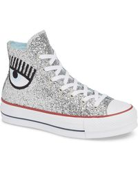 Converse - X Chiara Ferragni 70 Hi One Star Glitter Platform Sneaker - Lyst