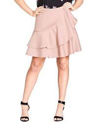 City Chic - Frill Me Ruffle Skirt - Lyst