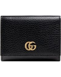 Gucci - Marmont Leather French Wallet - Lyst