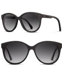 Shwood - 'madison' 54mm Round Wood Sunglasses - Lyst