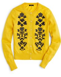 J.Crew - Jackie Floral Embroidered Cardigan - Lyst
