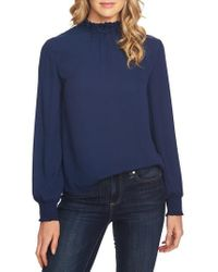 Cece - Embellished High Neck Top - Lyst