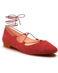 Shoes Of Prey - Ghillie Ballet Flat - Lyst