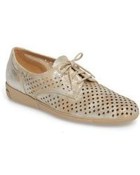 Sesto Meucci - Dirce Perforated Oxford Flat - Lyst