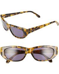 d0a9e59399a5 Karen Walker - 56mm Oval Cat Eye Sunglasses - Crazy Tortoise  Smoke - Lyst