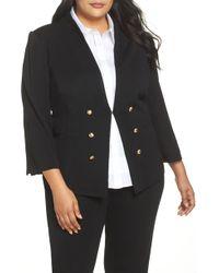 Ming Wang - Button Detail Sweater Jacket - Lyst