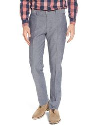 J.Crew - J.crew Ludlow Trim Fit Cotton & Linen Suit Pants - Lyst