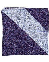 Hook + Albert - Geometric Silk Pocket Square - Lyst