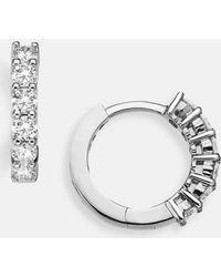 Roberto Coin - Diamond Hoop Earrings - Lyst