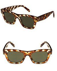 6d34b2e9ceb0 Céline - 51mm Rectangular Sunglasses - Striped Cognac Havana  Green - Lyst