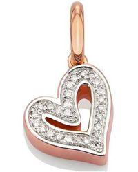 Monica Vinader - Alphabet Heart Diamond Pendant - Lyst