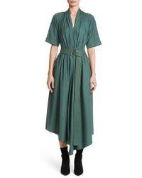 Adam Lippes - Asymmetrical Cotton Poplin Dress - Lyst