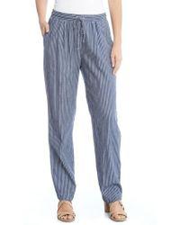 Karen Kane - Stripe Drawsting Pants - Lyst