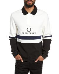 Fred Perry - Colorblock Long Sleeve Polo - Lyst