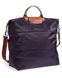 Longchamp   'le Pliage' Expandable Travel Bag - Purple   Lyst