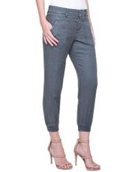 Liverpool Jeans Company - Ava Linen Blend Jogger Pants - Lyst