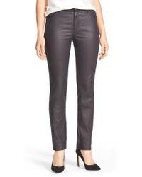 Lafayette 148 New York - Waxed Denim Slim Leg Jeans - Lyst