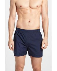 Polo Ralph Lauren | 3-pack Woven Cotton Boxers, Blue | Lyst