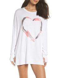 The Laundry Room - Heart Strokes Sleep Shirt - Lyst