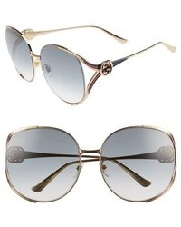 Gucci - 63mm Open Temple Sunglasses - - Lyst