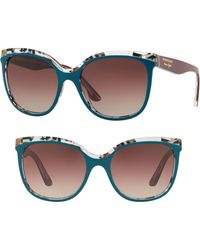 803e412a238d Burberry - Marblecheck 55mm Square Sunglasses - - Lyst