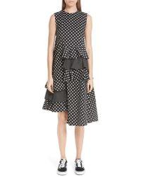 Paskal - Frilled Asymmetrical Sleeveless Dress - Lyst