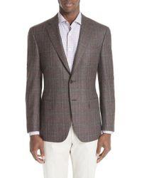 Canali - Classic Fit Plaid Wool Sport Coat - Lyst