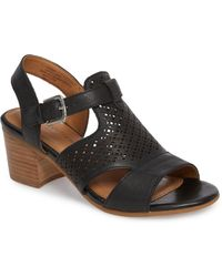 Comfortiva - Amber Perforated Block Heel Sandal - Lyst