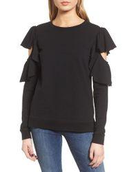 Chelsea28 - Ruffle Sleeve Sweatshirt - Lyst