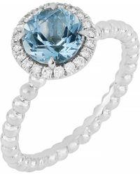 Bony Levy - Diamond & Aquamarine Ring (nordstrom Exclusive) - Lyst