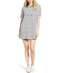 Barbour - Dive Stripe Terry Hooded Dress - Lyst