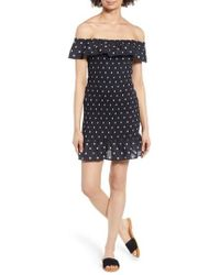 The Fifth Label - Fiesta Daisy Print Smocked Off The Shoulder Dress - Lyst