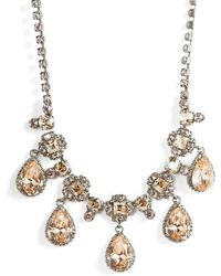 Sorrelli - Posey Crystal Statement Necklace - Lyst