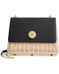 Ted Baker - Elava Medium Straw Crossbody - Lyst