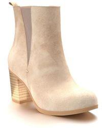 Shoes Of Prey - Block Heel Chelsea Boot - Lyst