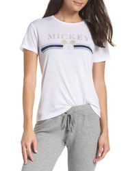 David Lerner - Gold Mickey Short Sleeve Tee - Lyst