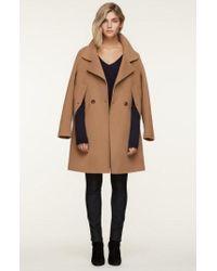 SOIA & KYO - Double Face Wool Blend Cape Coat - Lyst
