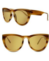 Smoke X Mirrors - Runaround Sue 60mm Cat Eye Sunglasses - Milky Tortoise/ Gold Mirror - Lyst