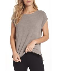 Barefoot Dreams - Barefoot Dreams Cozychic Ultra Lite Lounge Tee - Lyst