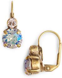 Sorrelli Round Crystal Drop Earrings - Natural