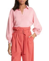 Tibi - Merino Wool Bell Sleeve Sweater - Lyst