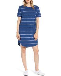 95327df5a037 Lou & Grey - Stripe Cozy Jersey T-shirt Dress - Lyst