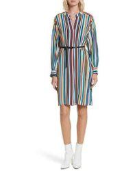 Tracy Reese   Stripe Silk Shirtdress   Lyst