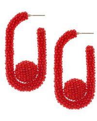 Sachin & Babi - Noir Mini Pinball Hoop Earrings - Lyst